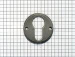 Sleutelplaat ijzer mat met cylindersleutelgat