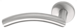 Gatdeel Links Deurkruk BASIC LBIV-19 op ronde rozet Mat RVS