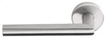 Gatdeel Links Deurkruk BASIC LBII-19 op ronde rozet Mat RVS