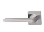 Gatdeel Links deurkruk Ben op vierkant rozet mat nikkel/chroom