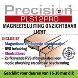 Precision PLS12 Magneetsluiting onzichtbaar licht RVS
