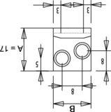 Kist spansluiting staal gegalvaniseerd 87 mm_