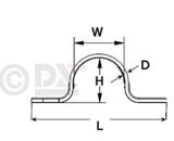 Beugelstrip RVS AISI 316