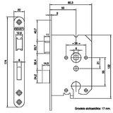 Nemef Cilinder insteekslot 1269 Met Staalgelakte Voorplaat_