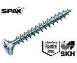 200 stuks Spax spaanplaatschroef platkop met pozidrive kruisindruk RVS 4.5 x 45 mm