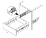 Paar ladegeleiders softclose volledig uittrekbaar 45 cm_