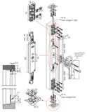 Espagnolet-sluiting opbouw SKG** links & rechts toepasbaar 530 - 2500 mm Zamac Wit_
