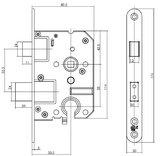 SKG* Veiligheidsslot PC55 mm met afgeronde voorplaat 20 x 174 mm_