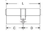 2x M&C Condor cilinder Zwart 30/30 SKG***_