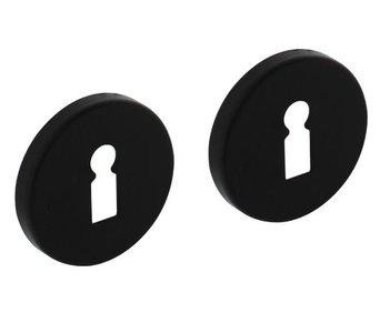 2 Sleutelplaatjes ø50x7 mm + 7mm nokken zwart