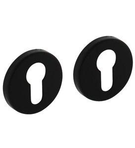 2 Profielcilinderplaatjes ø50x7 mm + 7mm nokken zwart