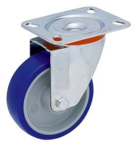 Transportwiel Draaibaar 100 mm Blauw