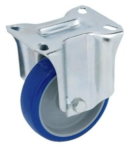 Transportwiel Bok 100 mm Blauw