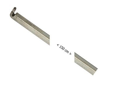 Nemef Staaf voor kruk-espagnolet 7 verzinkt 9x1500 mm