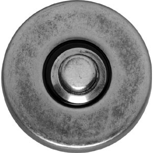 Beldrukker verdekt kunststof oud grijs