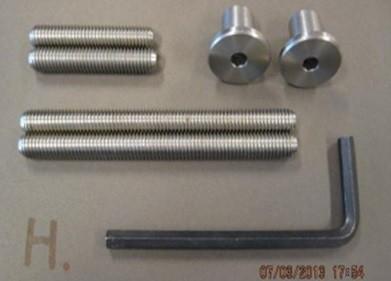 Bevestigingsset tbv enkelzijdige montage voor hout, pvc, aluminium
