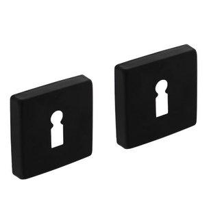 2 Sleutelplaatjes 50x50x10 mm + 7mm nokken zwart