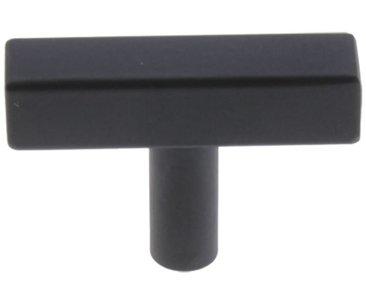 Starx t-knop vierkant/rond 12 x 12 x 50 mm zwart