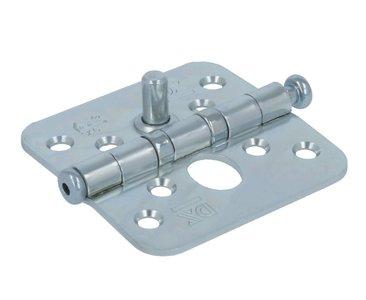 Kogellagerscharnier 76x76 mm ronde hoek SKG**®