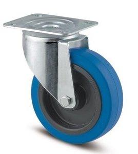 TENTE Zwenkwiel 100 mm Blauw