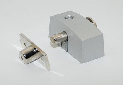 Oplegslot smal met cilinderslot SKG*® zilver grijs