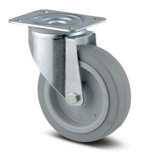 TENTE Zwenkwiel 125 mm Grijs