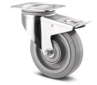 TENTE Zwenkwiel Met Rem 160 mm Grijs