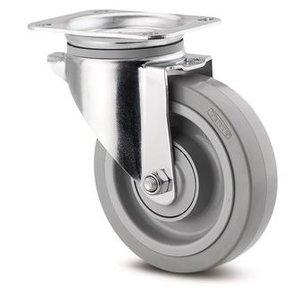 TENTE Zwenkwiel 200 mm Grijs