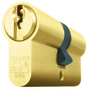 Mauer Cilinder Standaard Messing 35/40 SKG**