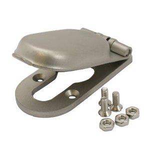 Mauer Cilinder afdekrozet 12 mm Mat RVS