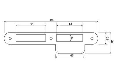 Mauer Sluitplaat 338 RVS Ls/Rs