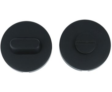 WC-Sluiting Rond Blind met 8 mm stift RVS/Mat Zwart