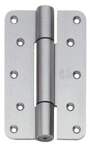 P+E Projectscharnier CE hout/hout 160mm rvs-look