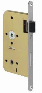 P+E Vrij- en bezetslot WC72 DIN rechts met rvs geborstelde voorplaat 235x20mm