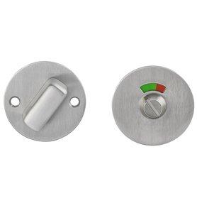 P+E Rozet toilet-/badkamersluiting rond ø55x2mm met 8mm stift rvs geborsteld