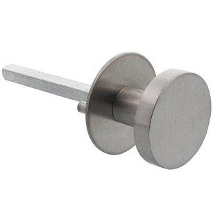 P+E Deurknop op ronde rozet ø55x2mm wisselstift 8mm rvs geborsteld