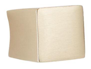 Knop gebogen goud gesatineerd 15 x 16 mm