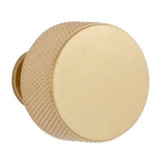 Knop GLITTER 29 mm goud gesatineerd