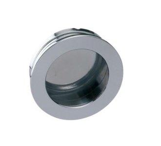 Schuifdeurkom Rond 60 mm chroom