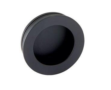 Schuifdeurkom Rond 60 mm mat zwart