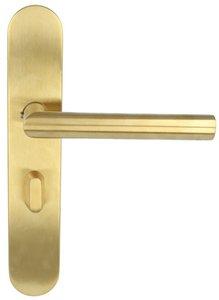 Deurkruk op schild Toiletsluiting BASIC LBII-19P13WC63/8 Rechts PVD mat goud