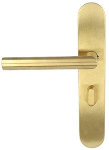 Deurkruk op schild Toiletsluiting BASIC LBII-19P13WC63/8 Links PVD mat goud