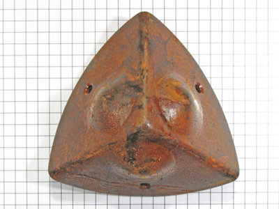 Kisthoek IJzer Geroest 55 x 55 mm