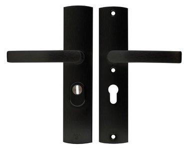 Axa Curve Veiligheidsbeslag met kerntrekbeveiliging PC55 kruk/kruk SKG*** Zwart