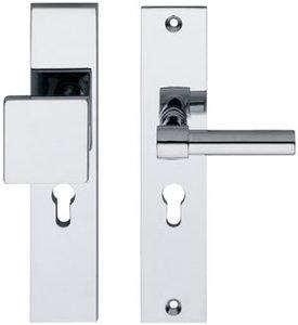 SKG3 Veiligheid-garnituur rechthoek massief greep/kruk L recht PC92 chroom