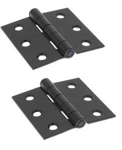 Starx scharnier vierkant model met losse pen 63 x 63 mm zwart