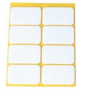 Zelfklevend Vilt wit 22 x 36 mm 8 Stuks