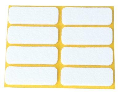 Zelfklevend Vilt Wit 16 x 44 mm 8 Stuks