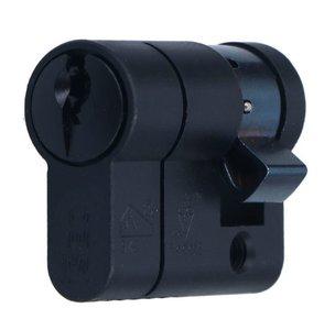 Enkele Veiligheidscilinder 30/10 Iseo F6 Extra S SKG*** Zwart