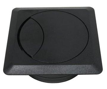Kabeldoorvoer Vierkant Zwart 80 mm